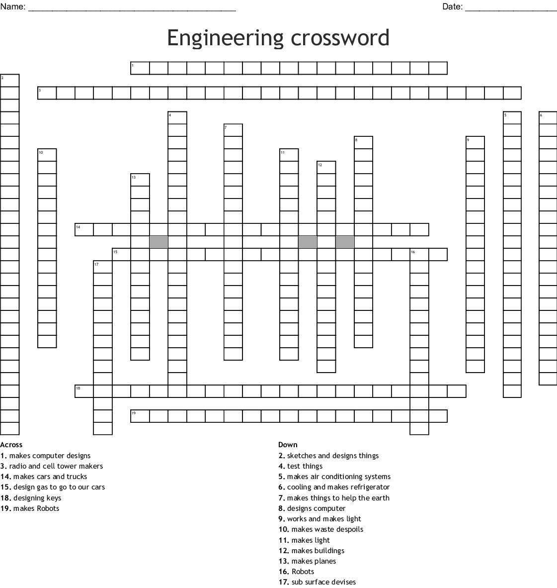 Building Materials Supplies Crosswords Word Searches Bingo Cards