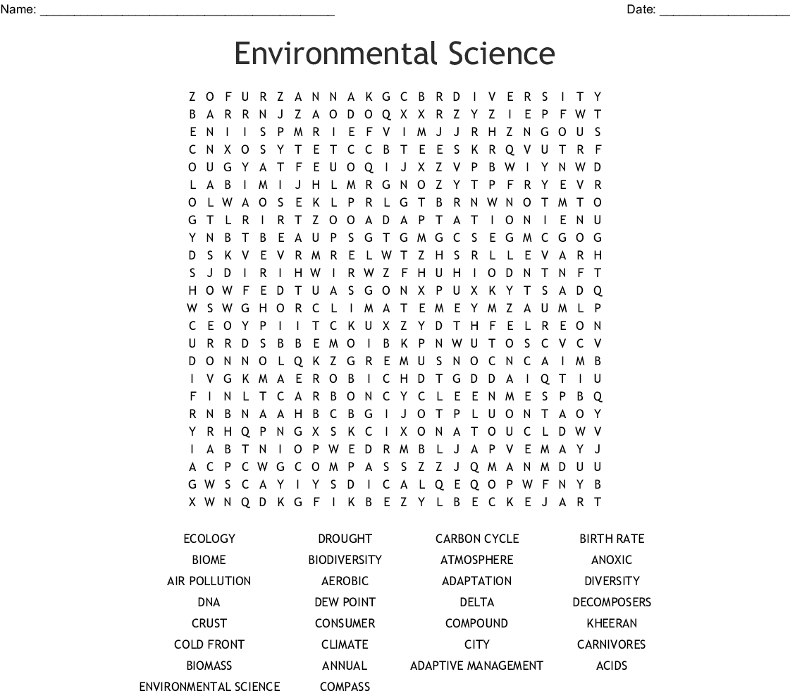 It's just a graphic of Science Word Search Printable regarding middle school