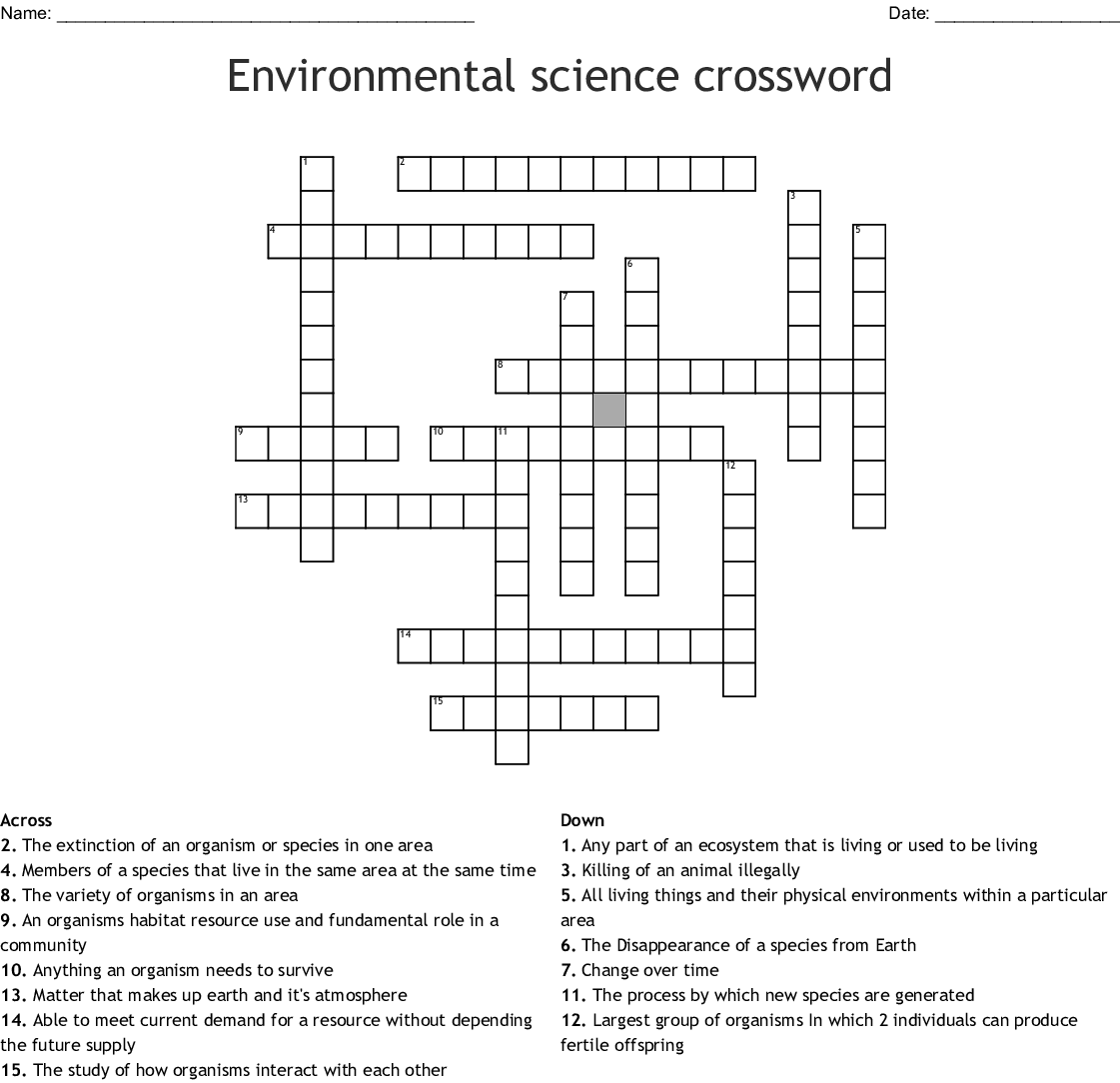 Forensic Science Crossword Puzzle Answers Wordmint ...