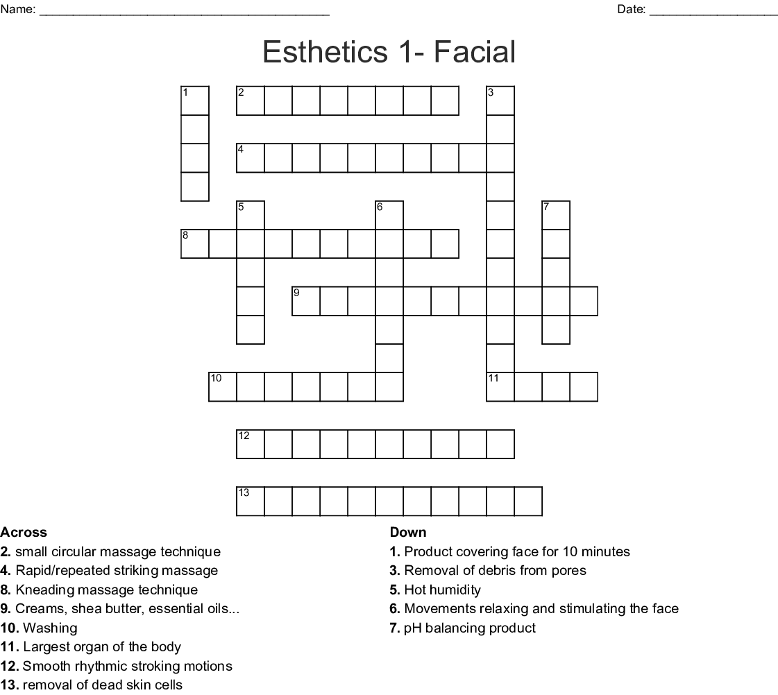 Taxonomy Of Massage Word Search Wordmint