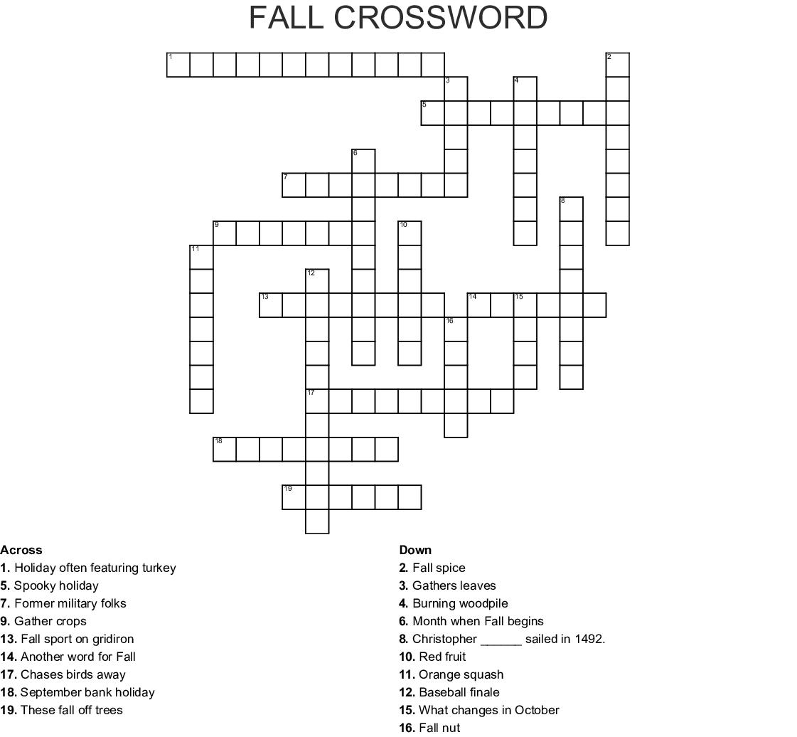 434343.com_Autumn Crossword Puzzle - WordMint