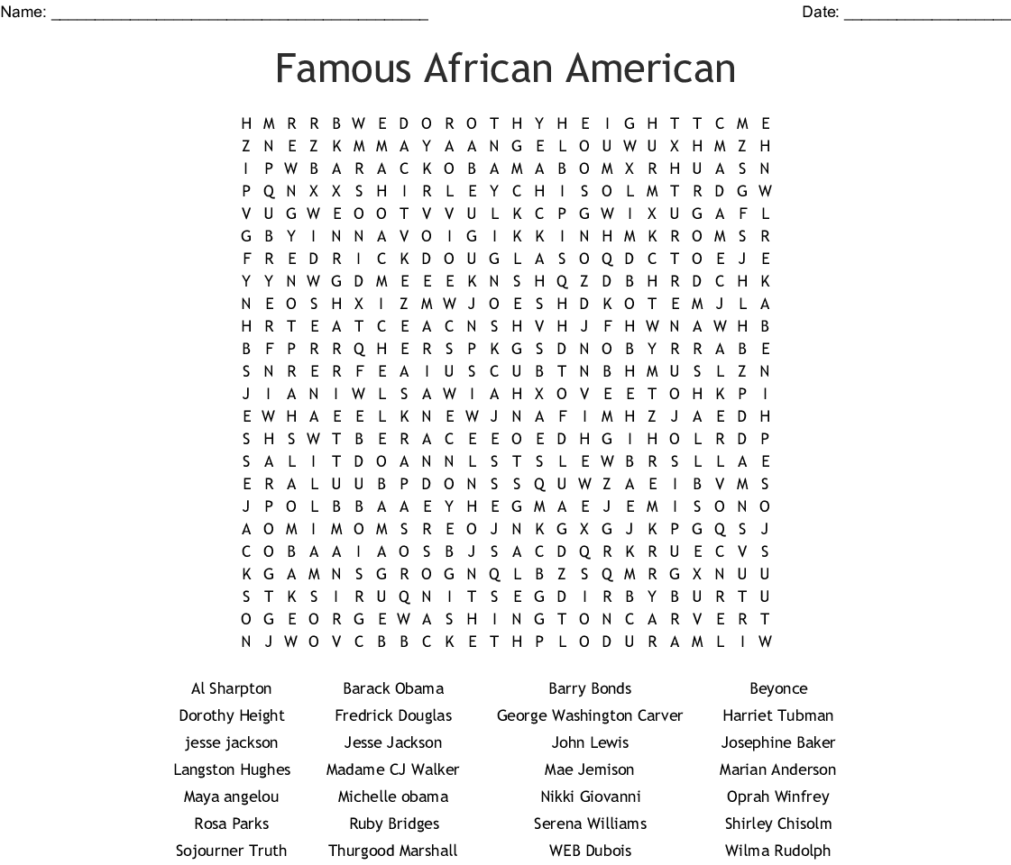image regarding Black History Quiz Questions and Answers Printable called Popular African American Term Glimpse - WordMint