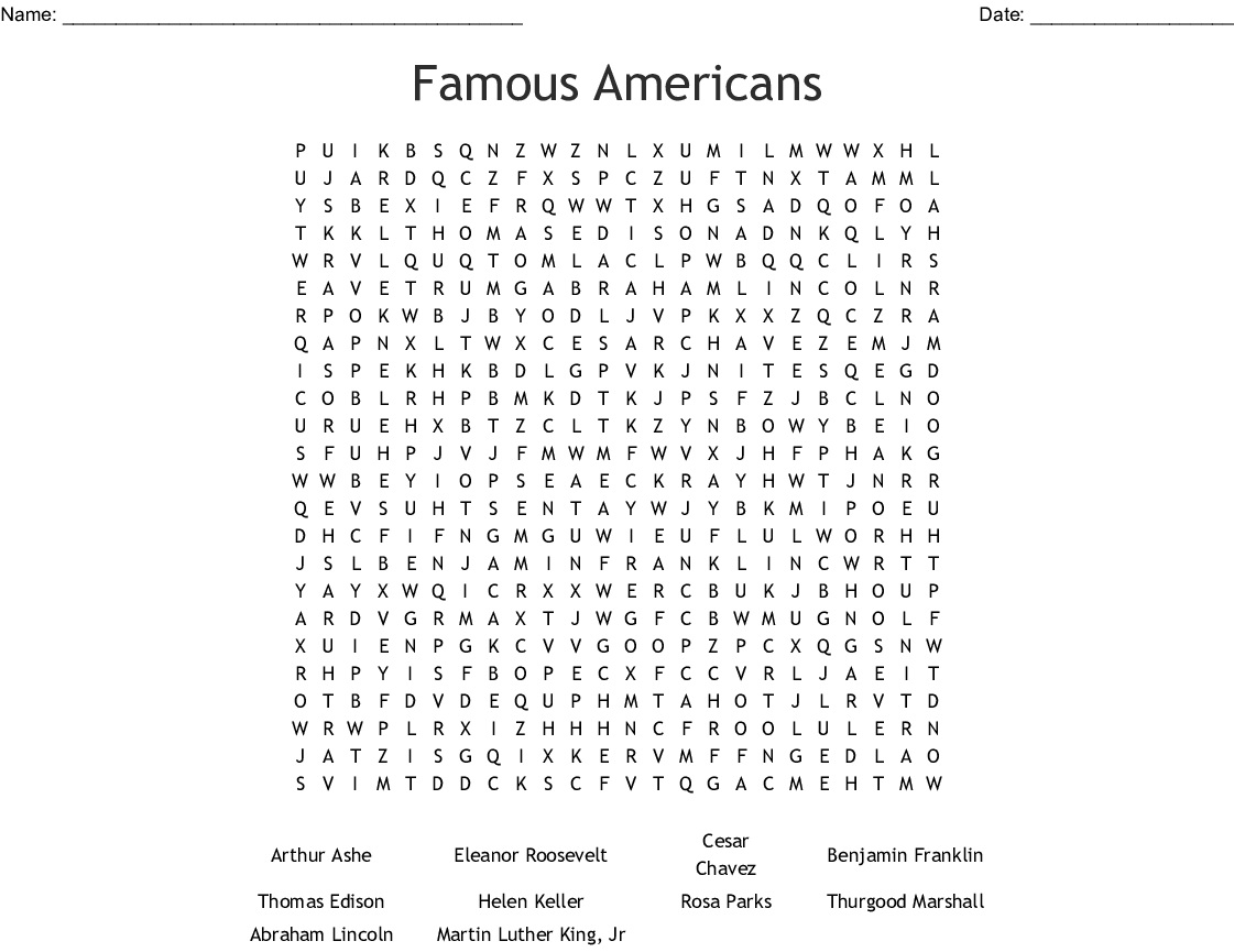 Heroes Word Search - WordMint