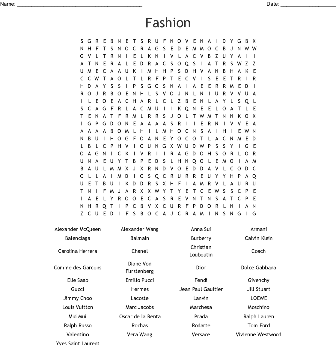 Expensive Brands Crossword Wordmint