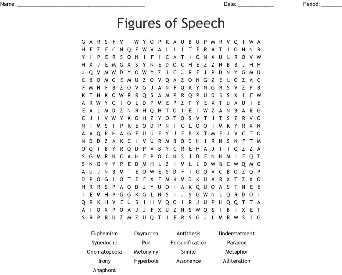 Figures Of Speech Crossword Wordmint