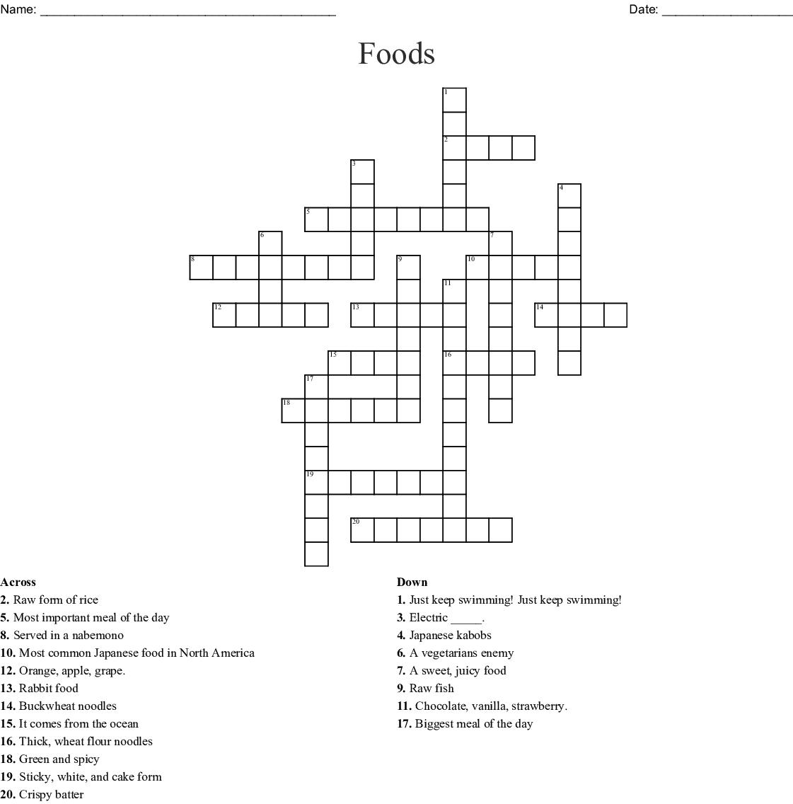 Japanese Food Word Search - WordMint