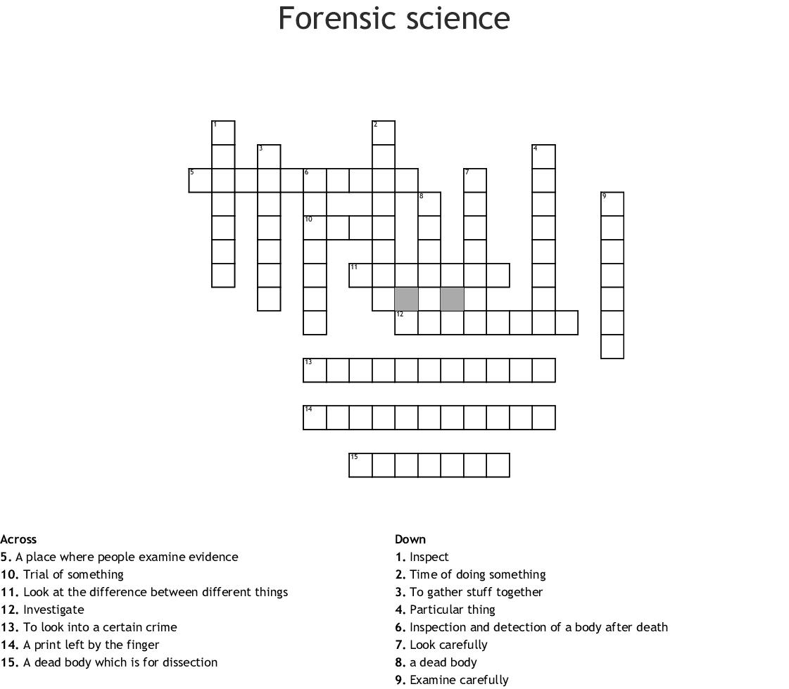 Law Enforcement Crosswords Word Searches Bingo Cards Wordmint
