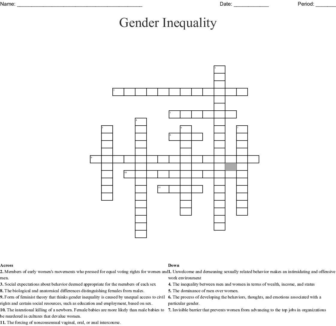 Chapter 11 Sex And Gender Crossword Wordmint