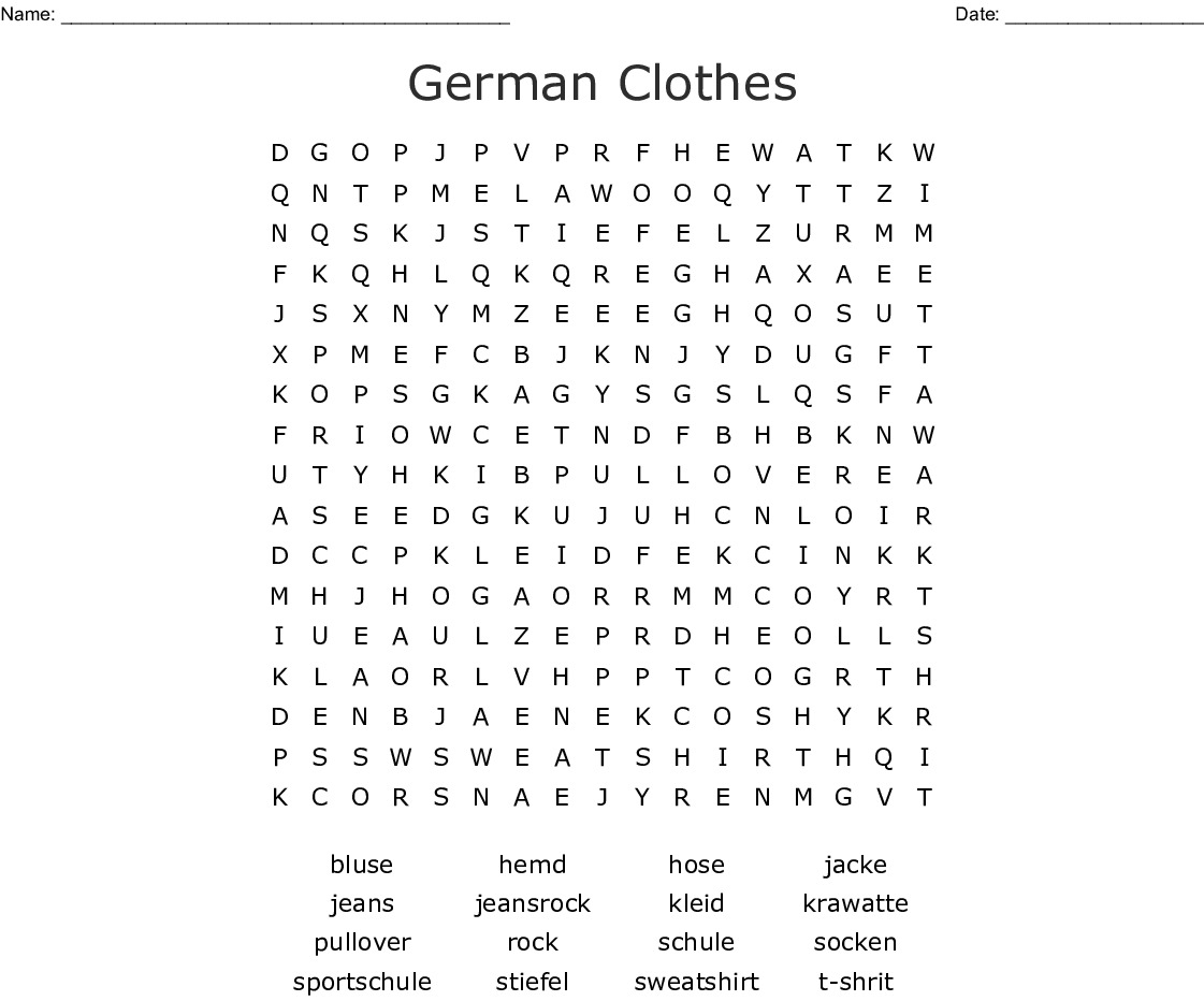 German Word Search