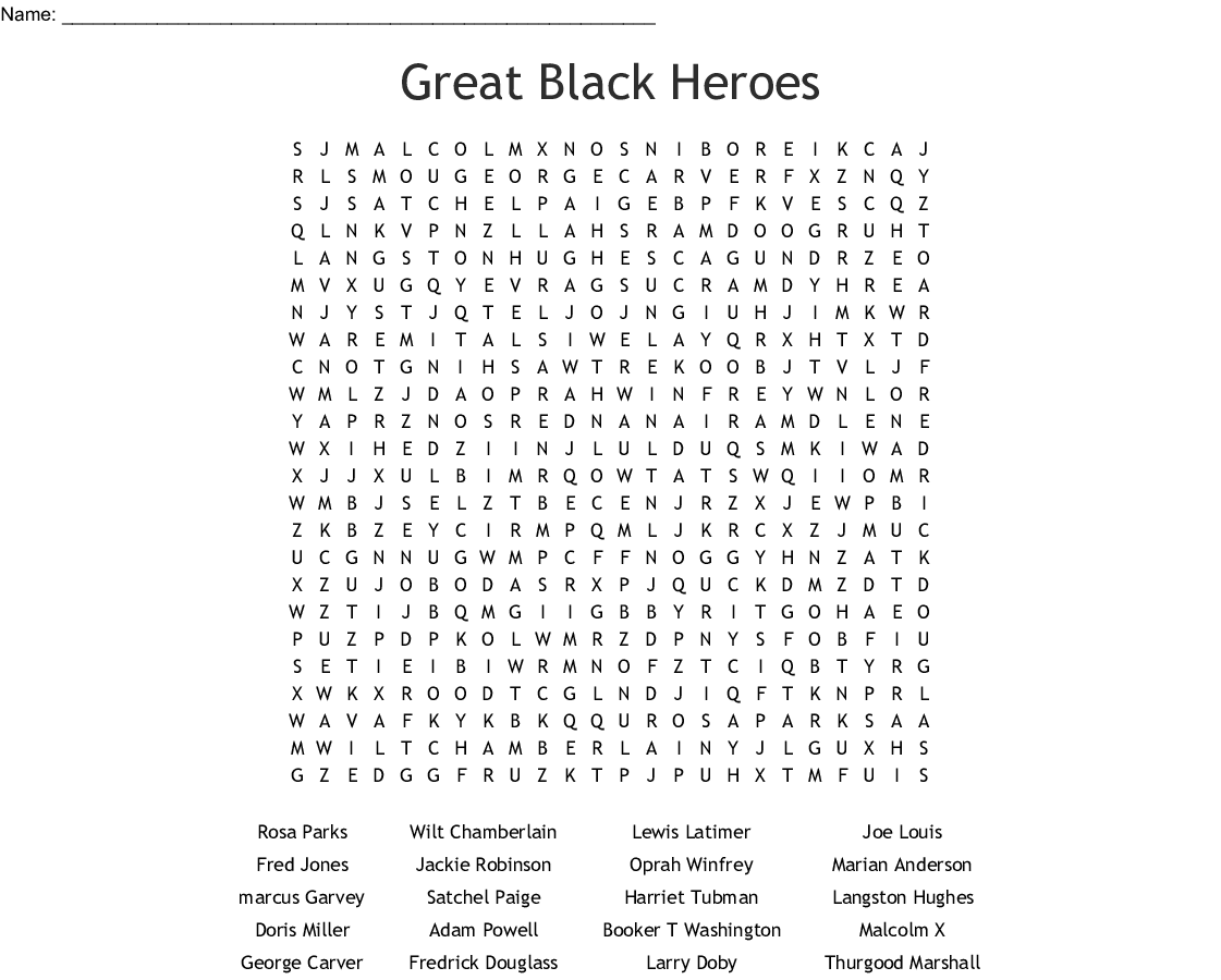 image about Black History Quiz Questions and Answers Printable named Famed African American Phrase Seem - WordMint