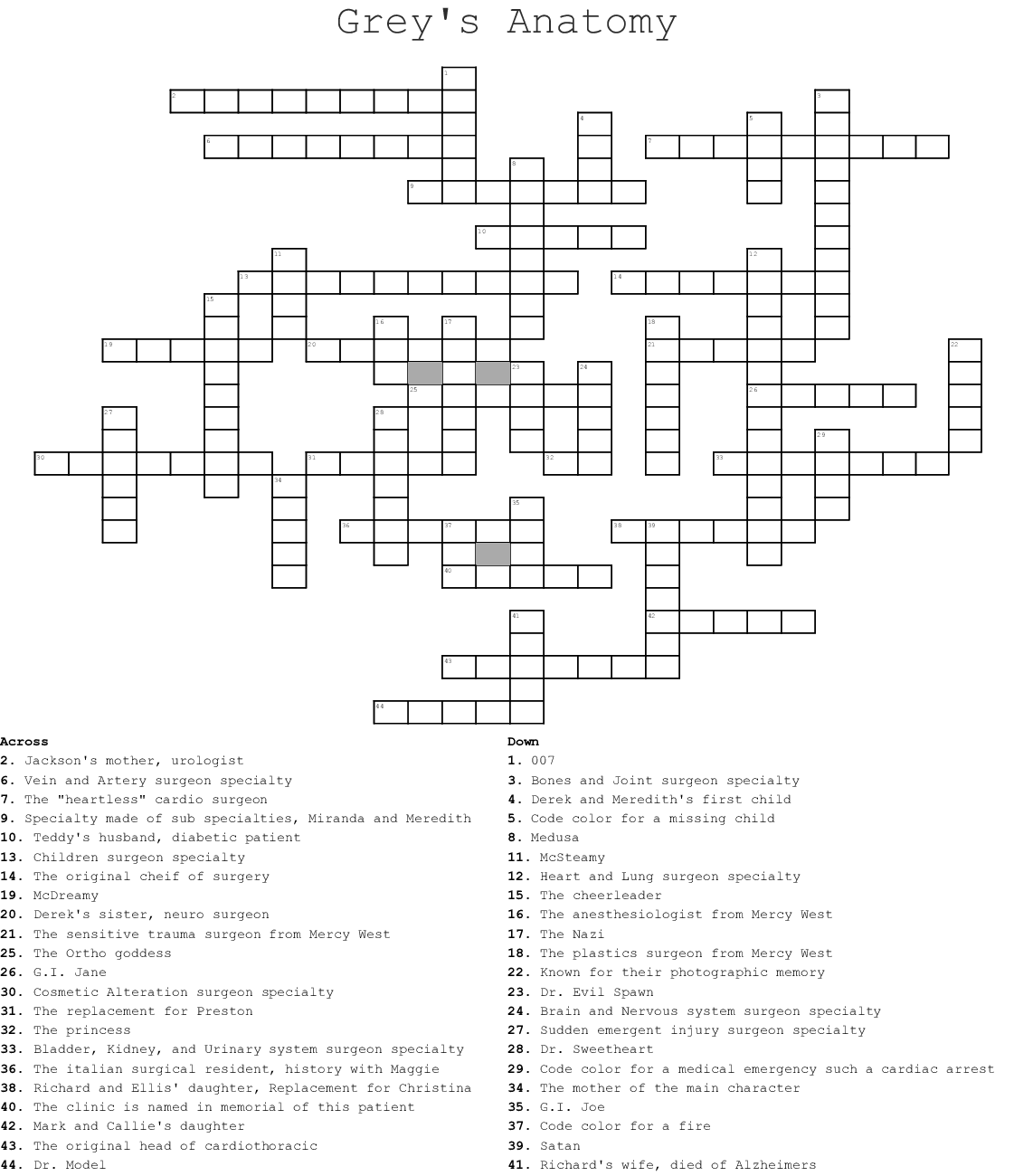 diagram of grey\'s anatomy greys anatomy word search wordmint  greys anatomy word search wordmint