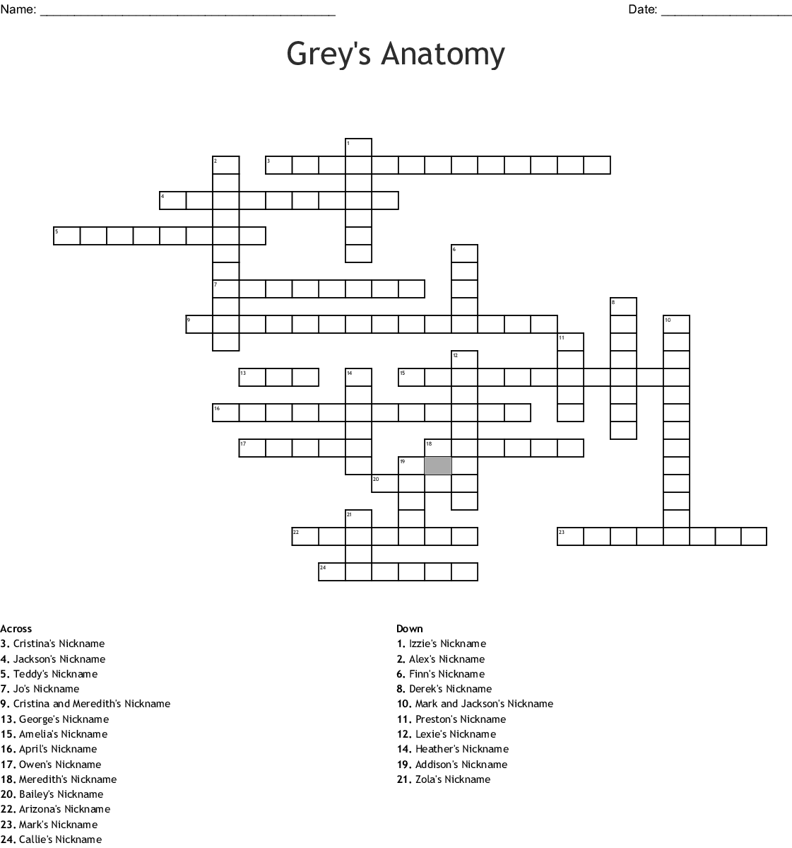 diagram of grey\'s anatomy grey s anatomy crossword wordmint  grey s anatomy crossword wordmint