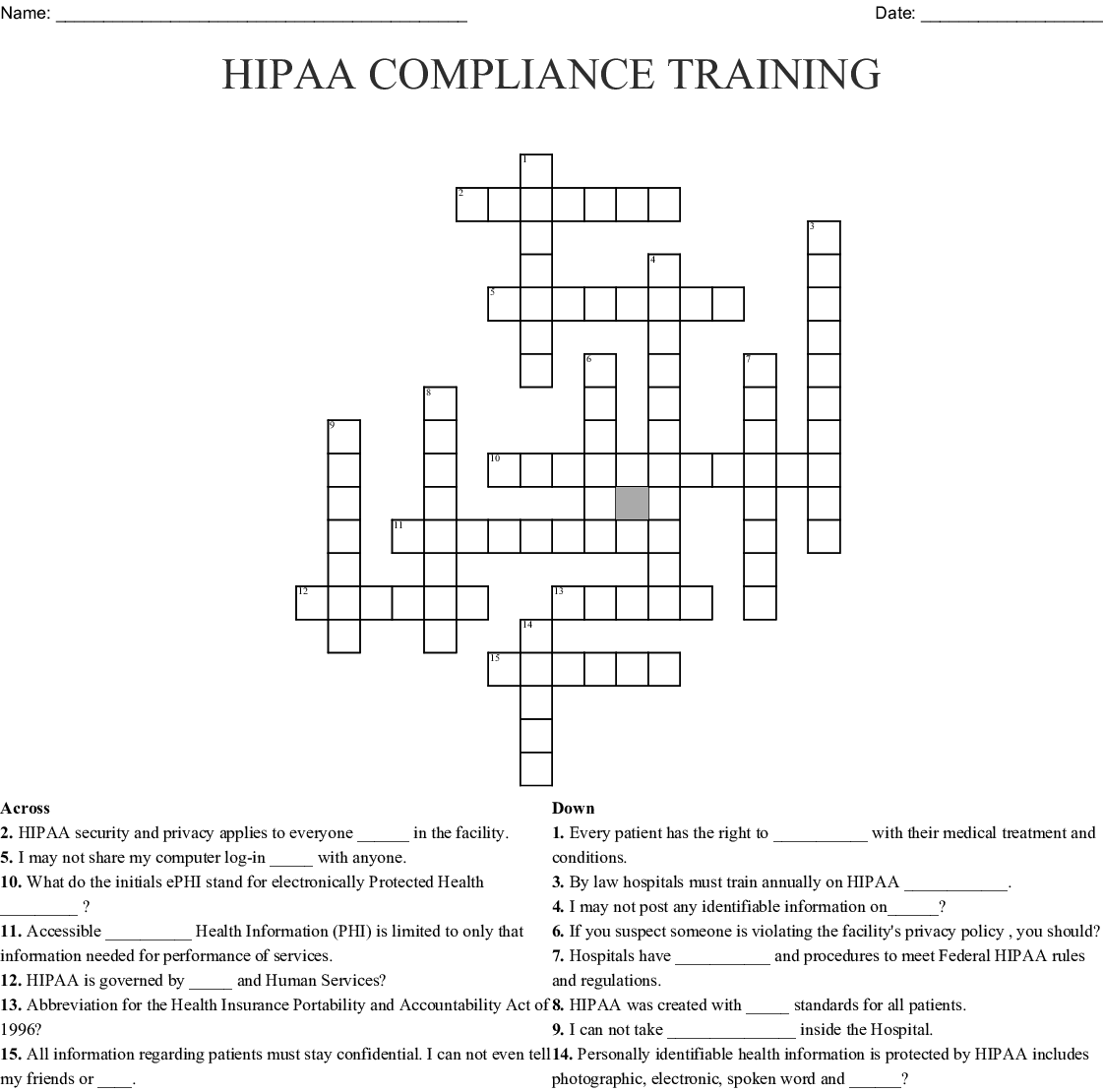 It's just an image of Dynamite Printable Hipaa Quiz