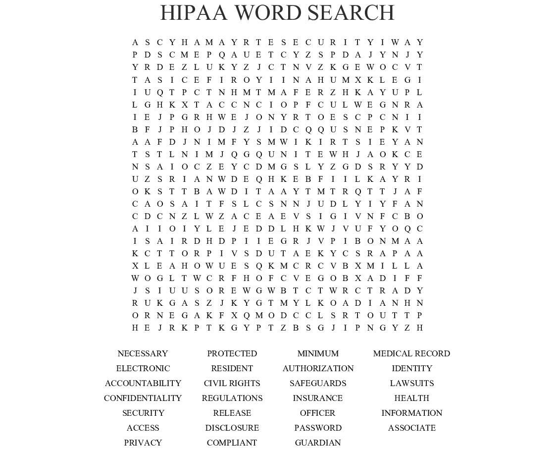 It is a graphic of Shocking Printable Hipaa Quiz