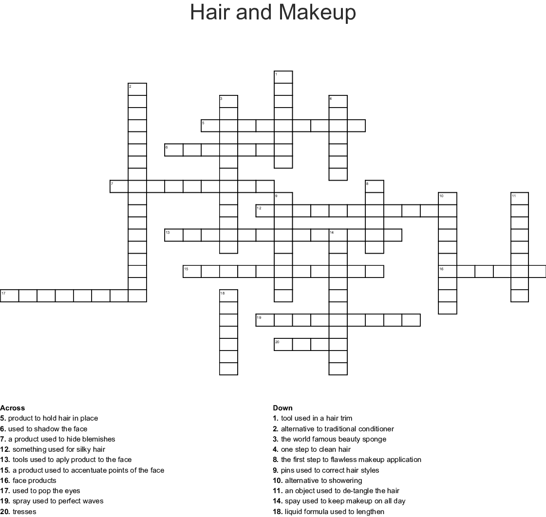 Wavy Hairstyle Crossword Clue - Haircuts you'll be asking for in 2020
