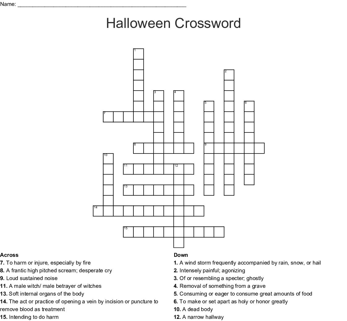 Halloween Crossword Wordmint