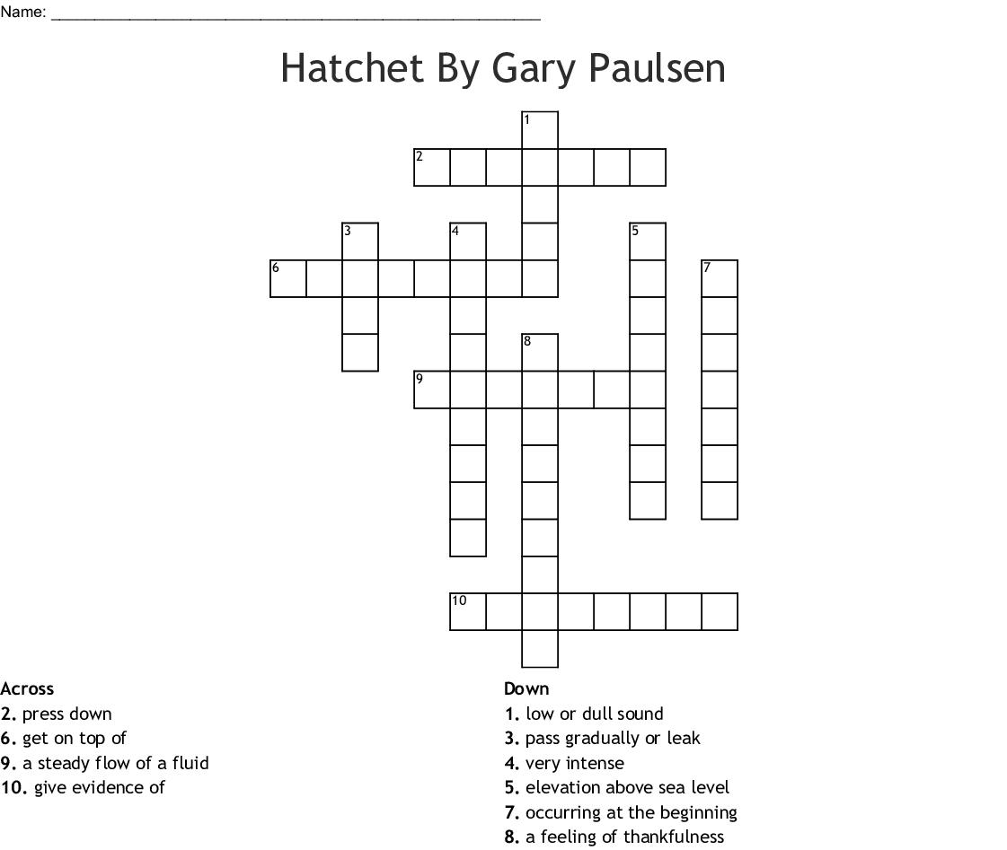 photo regarding Hatchet Worksheets Printable titled Hatchet Vocab Term Seem - WordMint
