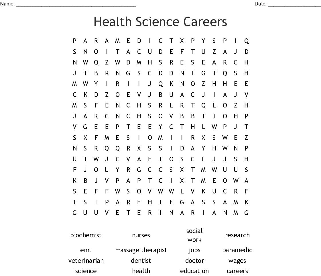 Massage Therapist Crossword Wordmint