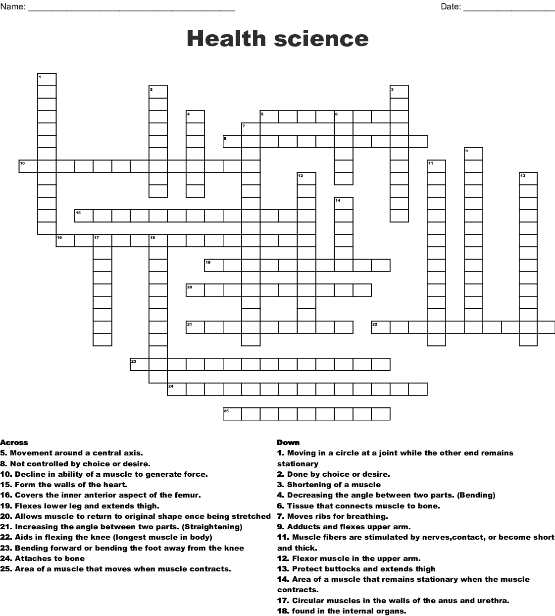 Answer Key Science Crossword Puzzles With Answers ...