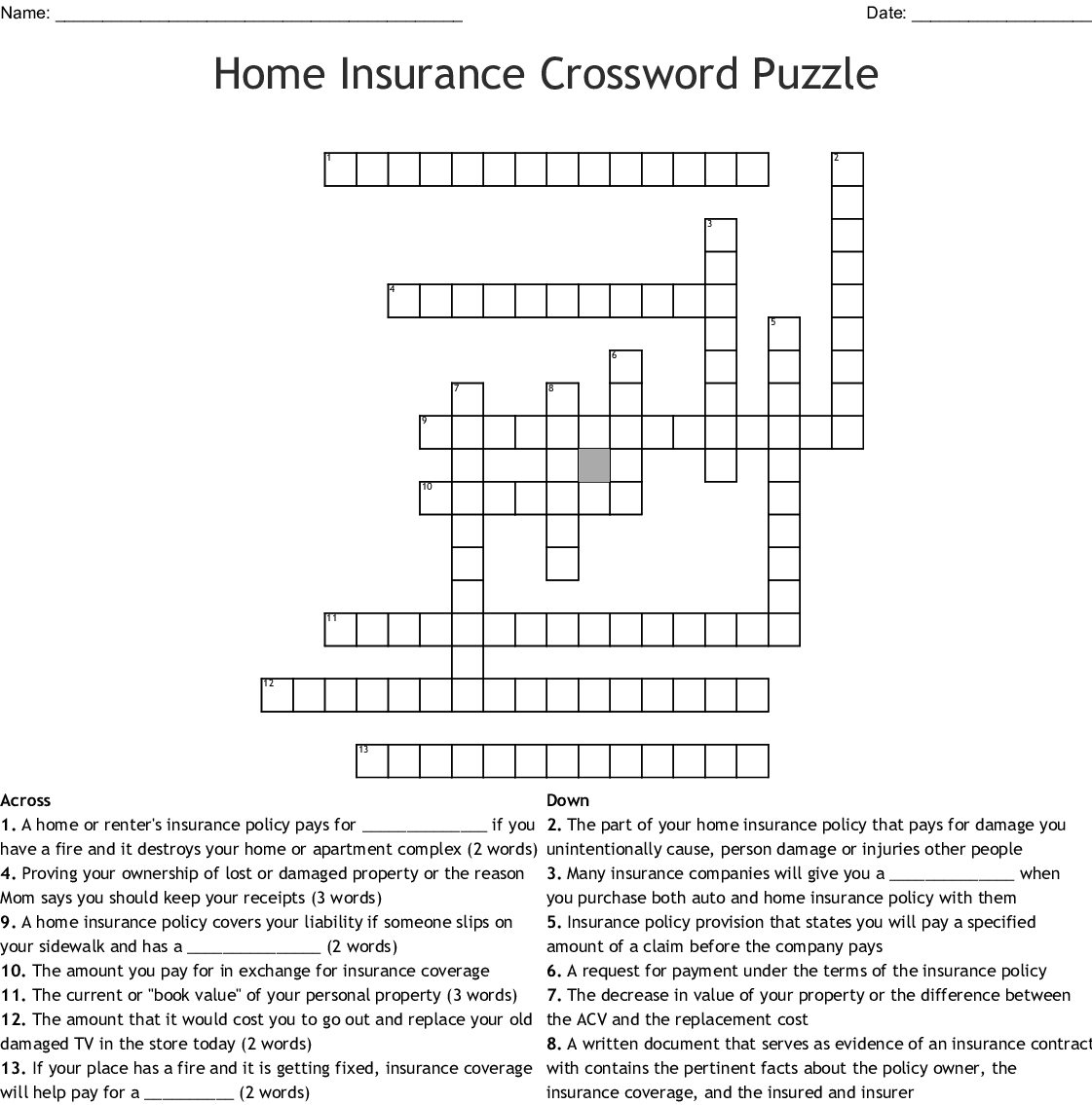 Technical Careers Crossword Wordmint