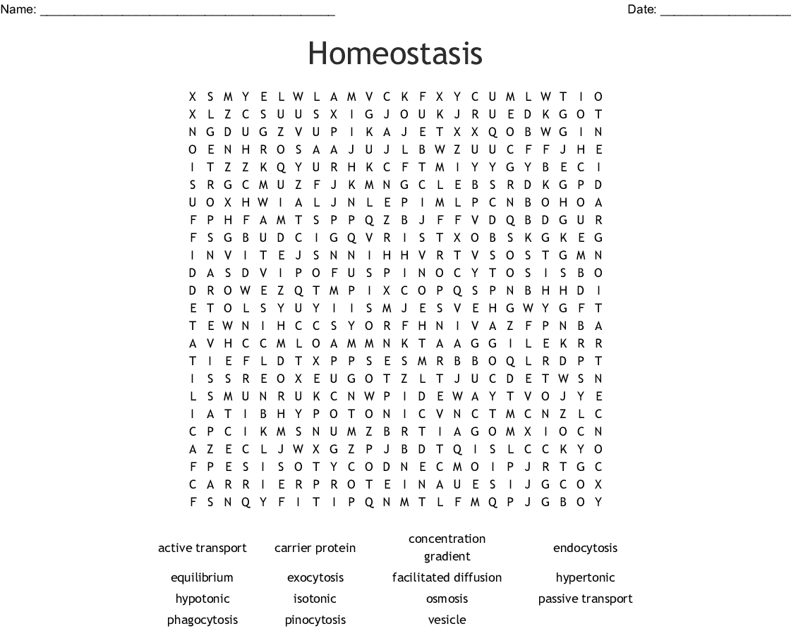 Terrific Homeostasis Word Search Wordmint Download Free Architecture Designs Rallybritishbridgeorg