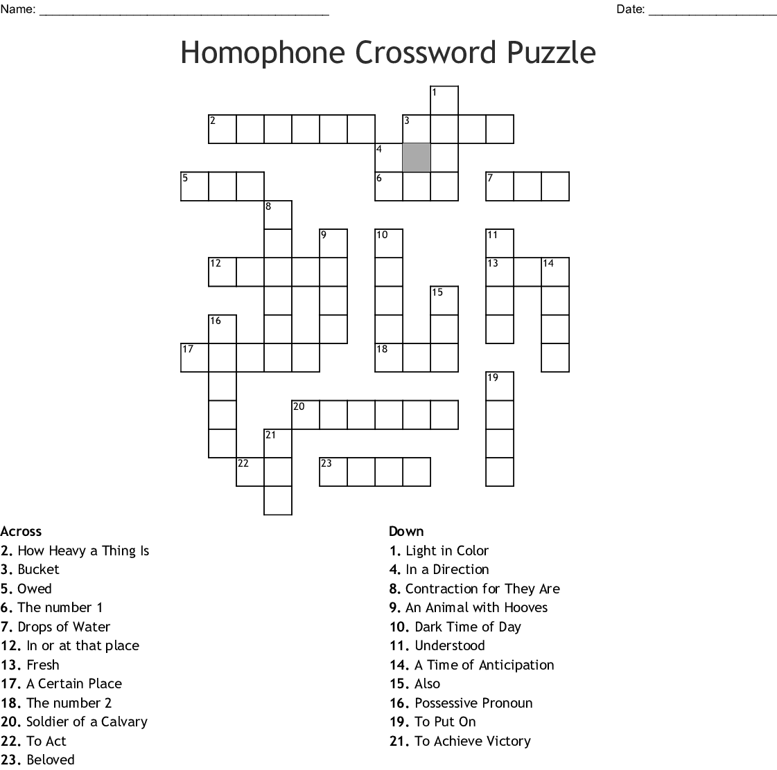 Homophones Word Search - WordMint