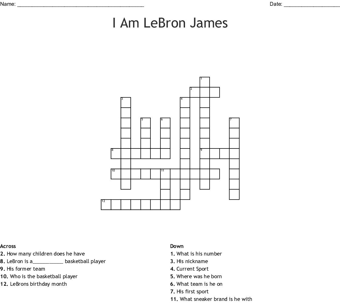 LeBron James Word Search - WordMint
