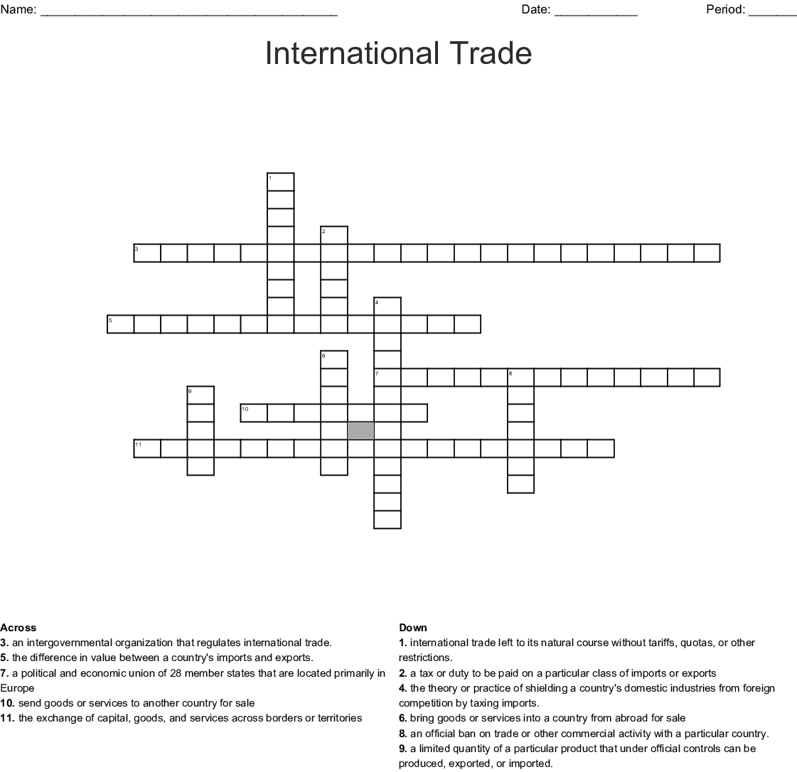 Epf Global Economy Crossword Wordmint
