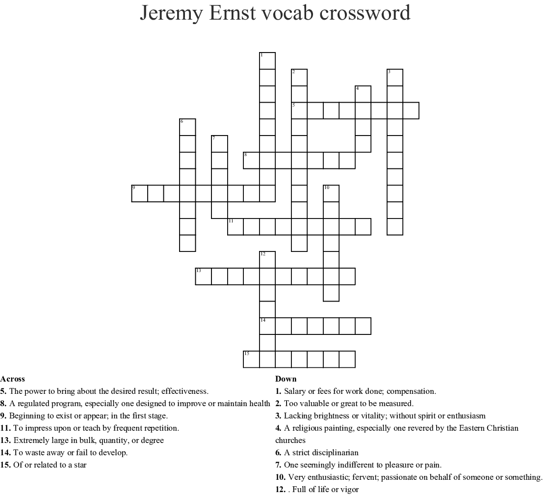 Wordly Wise Crossword Puzzle Wordmint