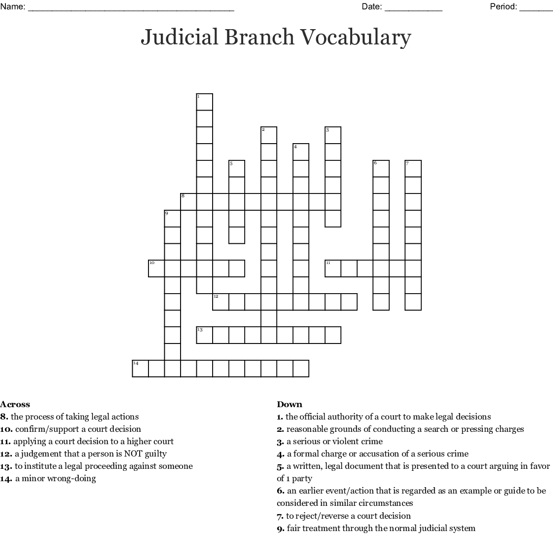 Judicial Branch Worksheet Answers - Teaching Government ...