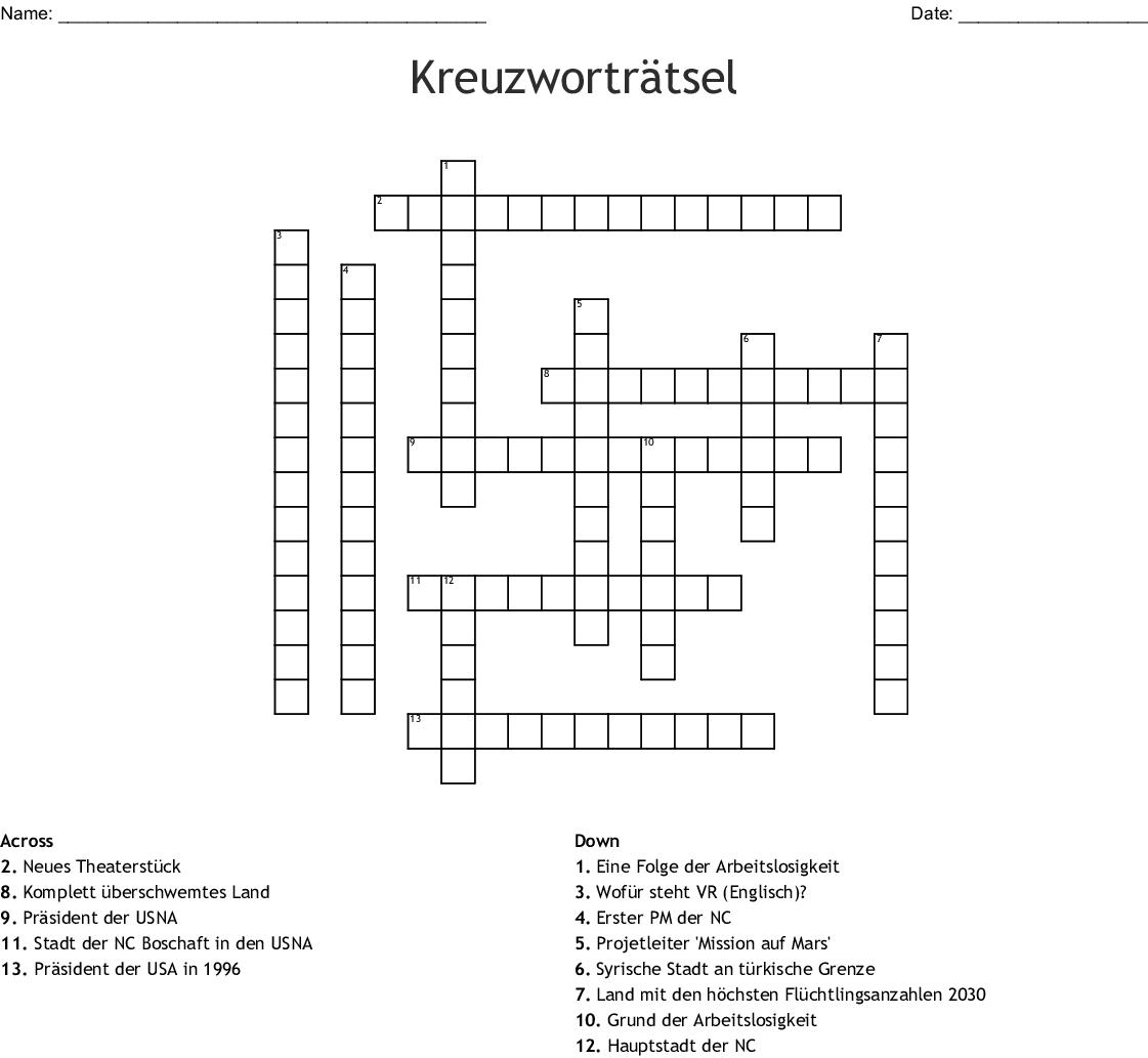 Kreuzworträtsel Crossword - WordMint