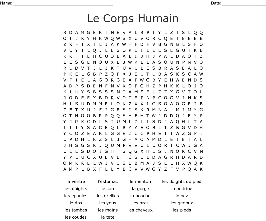 Le Corps Crossword Wordmint