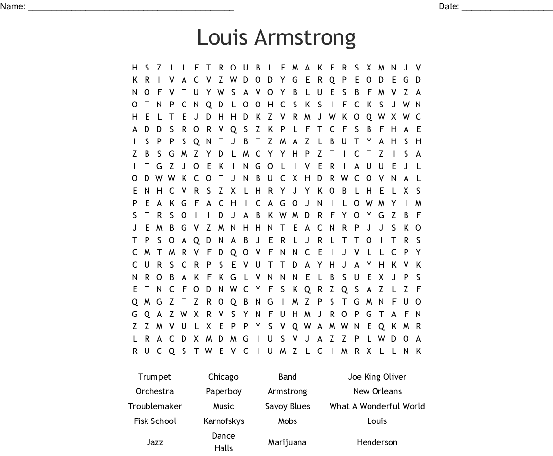 graphic about Music Word Search Printable identified as Jazz new music Term Appear - WordMint