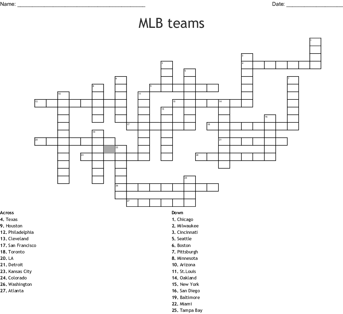Baseball Math Worksheets Baseball Crossword Puzzle Worksheet For 3rd 5th Grade In 2020 Baseball Games For Kids Baseball Activities Crossword Puzzles