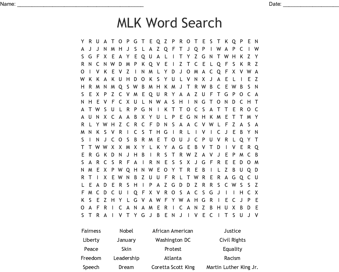 It's just a graphic of Martin Luther King Word Search Printable pertaining to puzzle