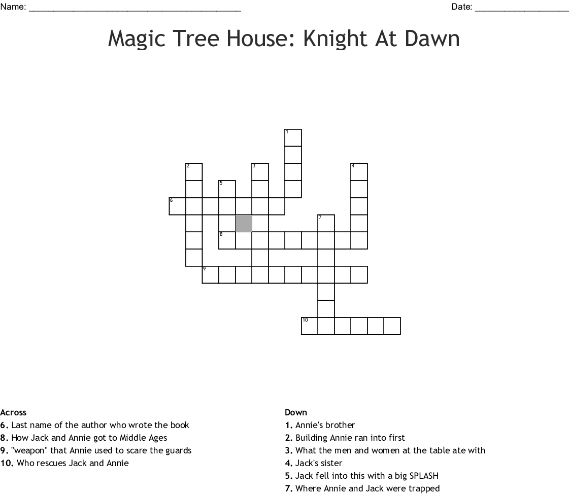 The Knight at Dawn Worksheet - WordMint
