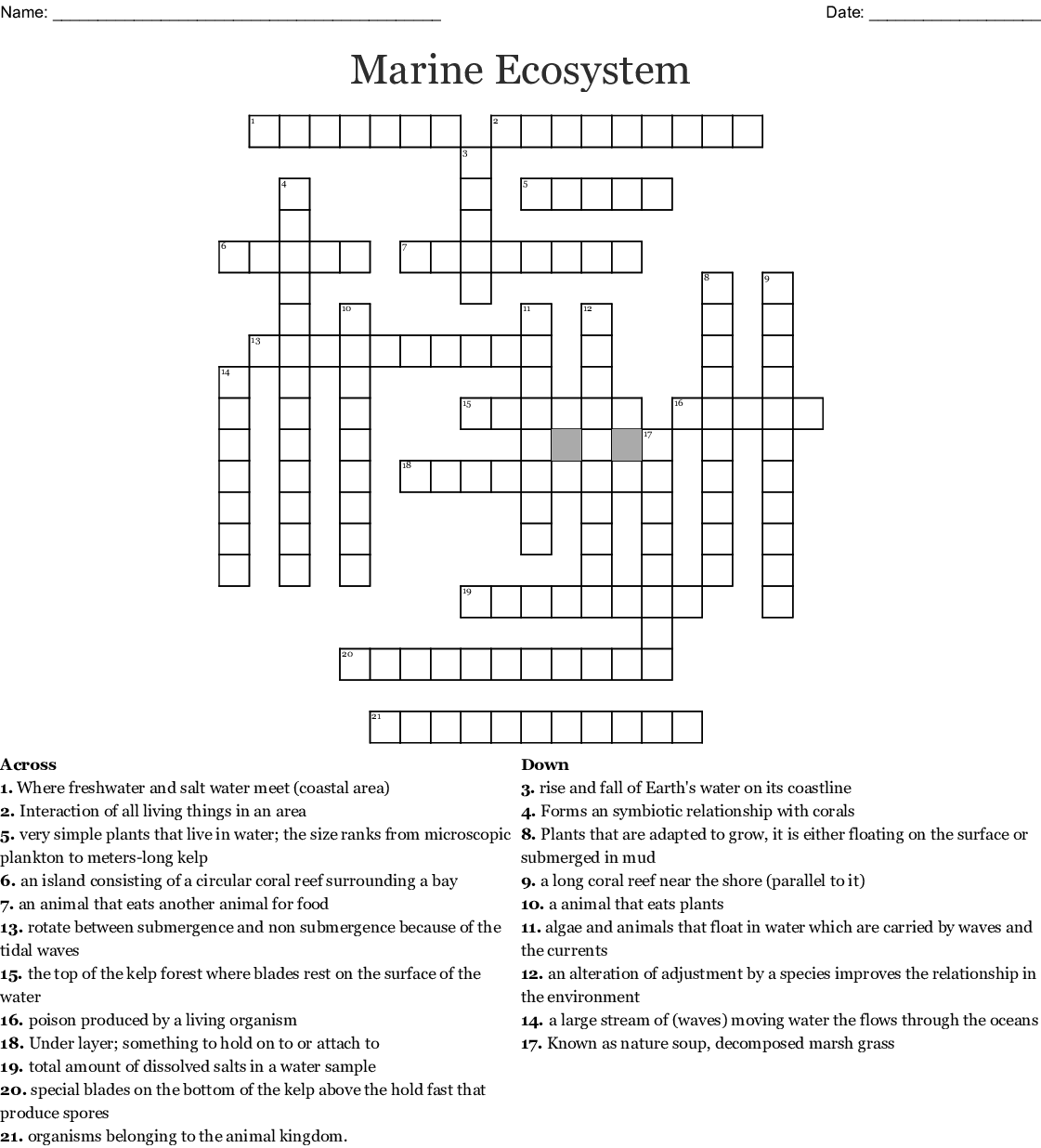 The Great Barrier Reef Word Search - WordMint