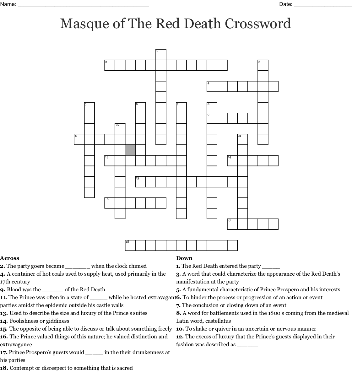 from birth to death crossword
