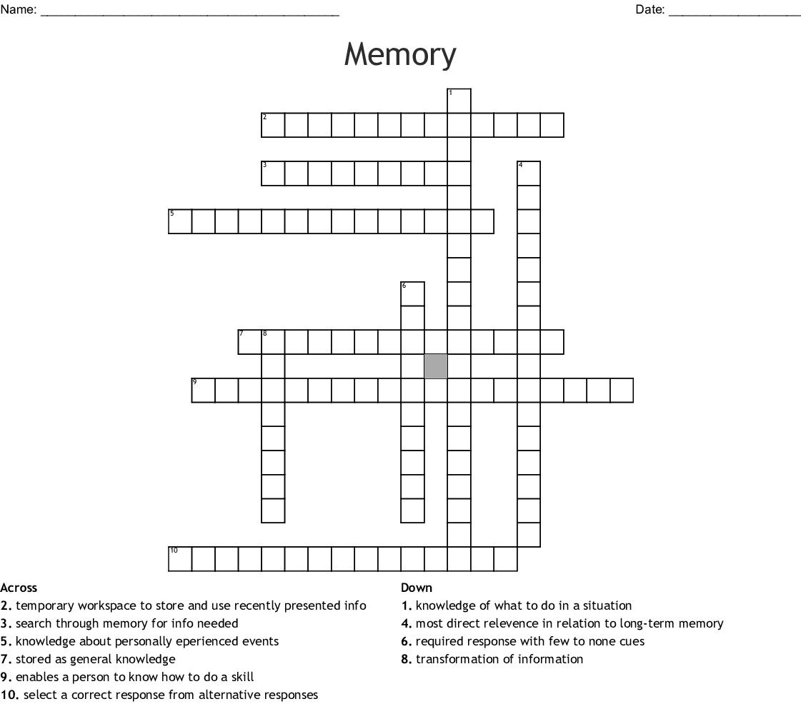 Memory Crossword Wordmint