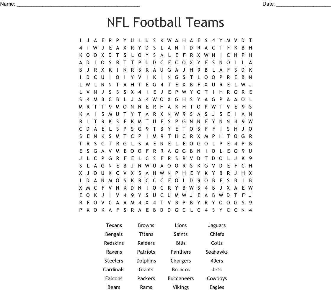 image about Football Word Search Printable identified as NFL Soccer Groups Term Seem - WordMint