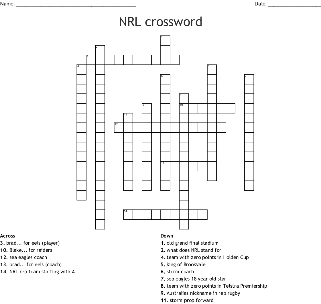 NRL Word Find Word Search - WordMint