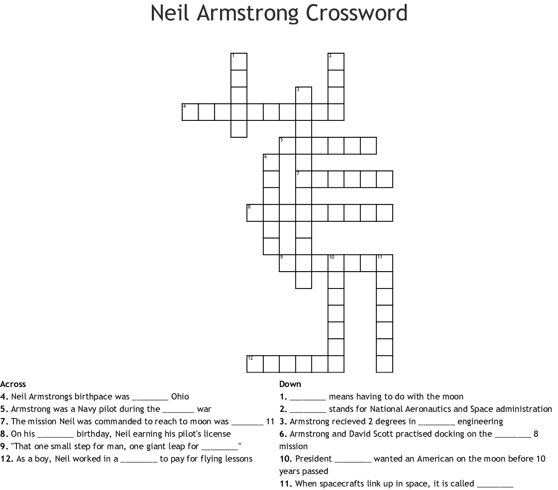 project apollo space agency crossword clue - photo #24