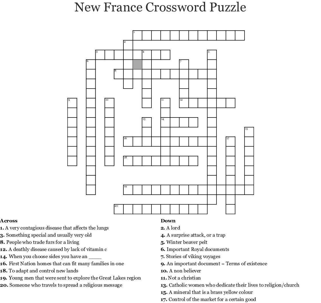 Chapter 8 Vocab Crossword Wordmint