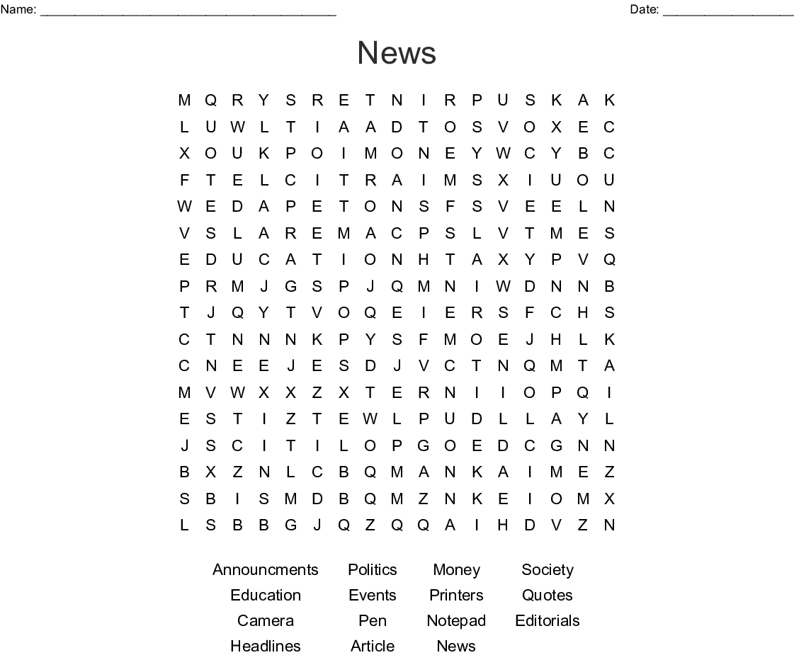 graphic regarding 100 Word Word Search Printable identified as Information Phrase Seem - WordMint