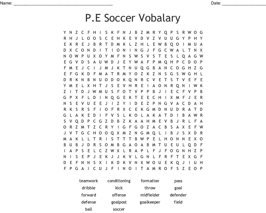 Handball Word Search Wordmint