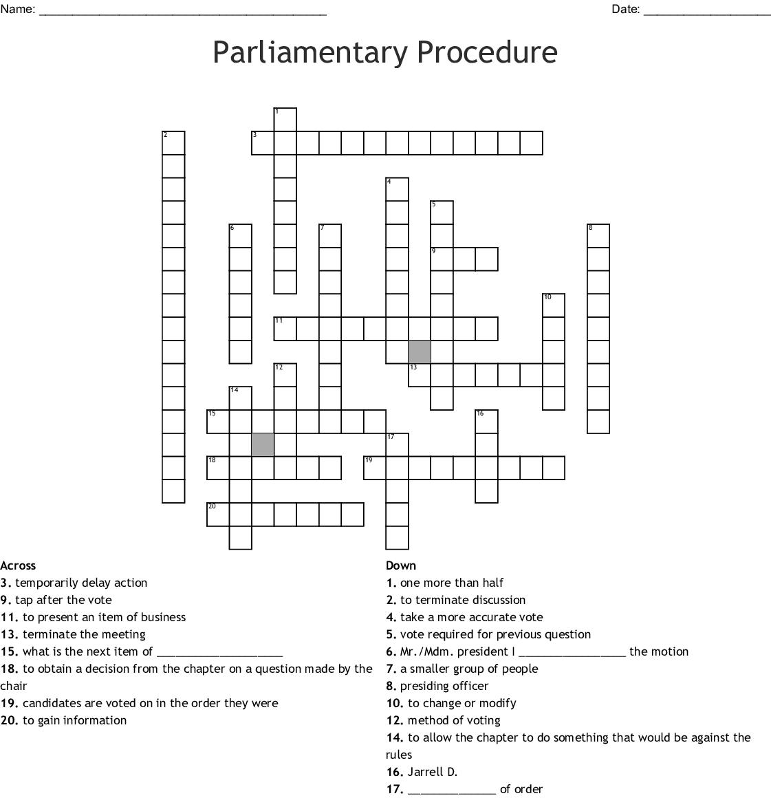 re list Crossword - WordMint