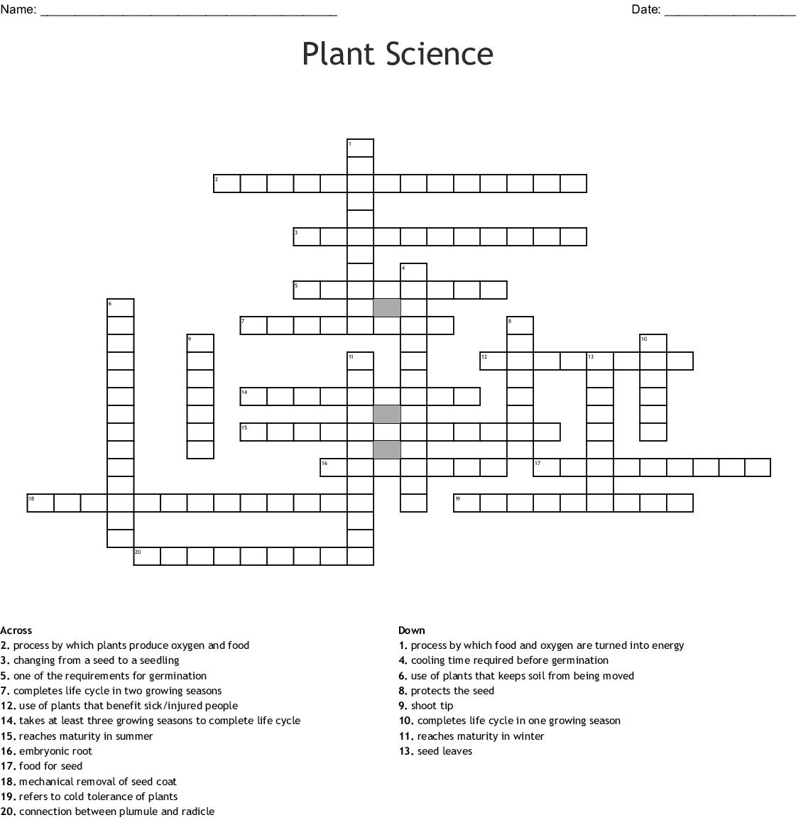 Garden Crossword Wordmint