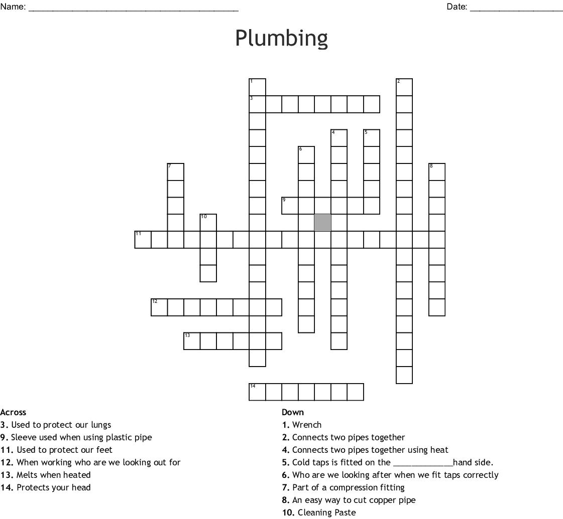 plumbing Word Search - WordMint