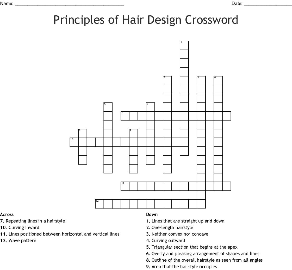 Principles of Hair Design Crossword - WordMint