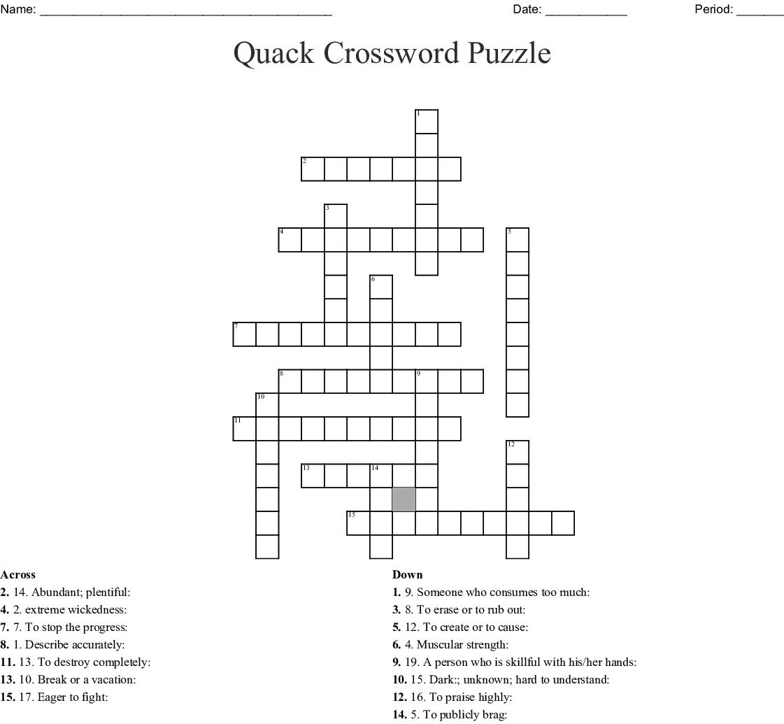 Sat Vocab Crossword Puzzle 1 8 Wordmint